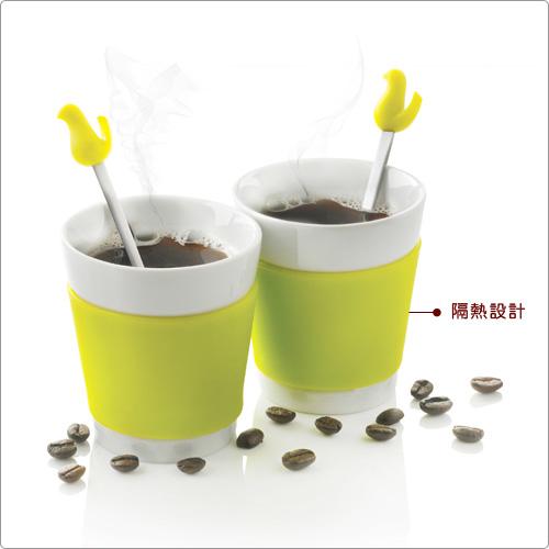 XDDESIGN 小鳥攪拌匙瓷杯組(2入)
