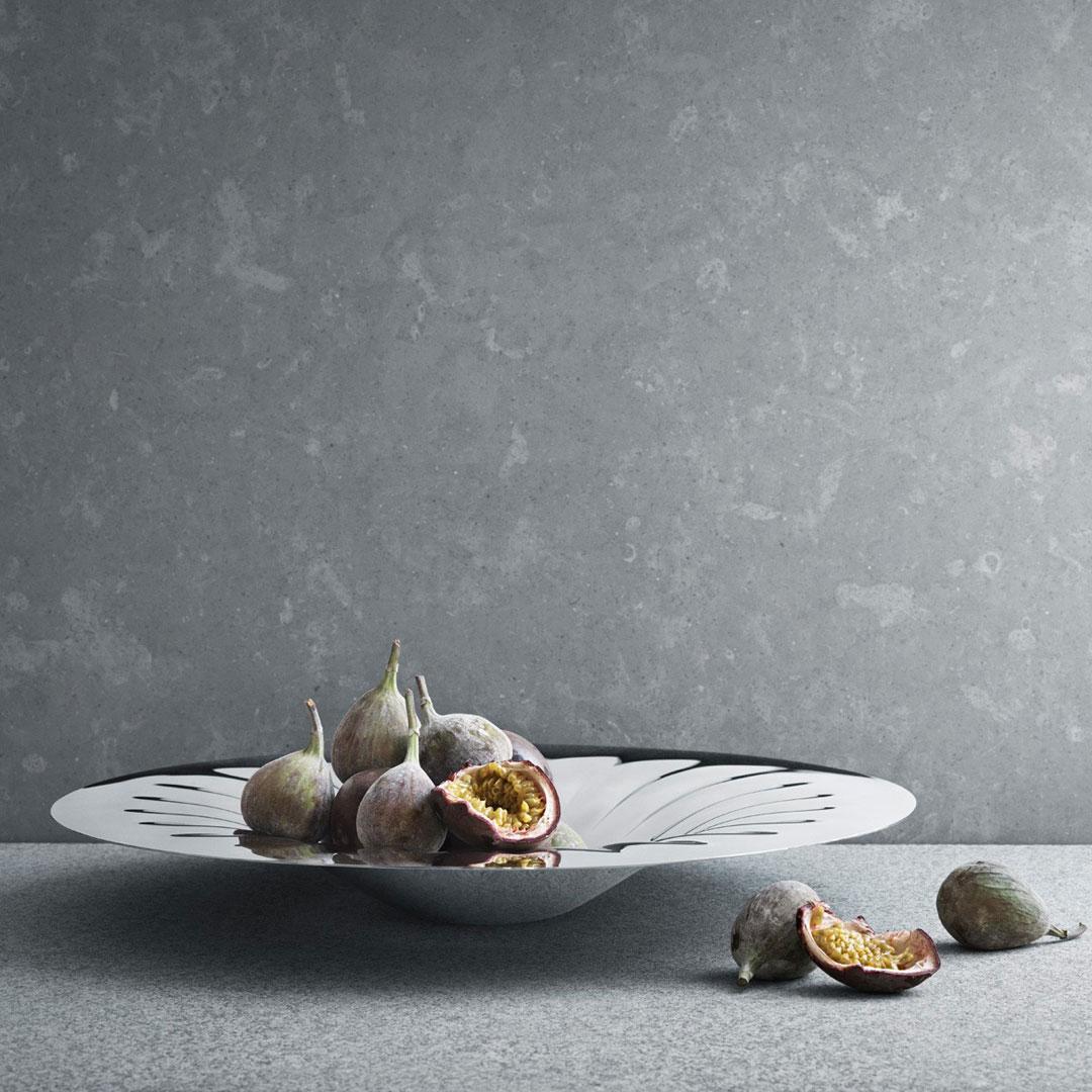 丹麥 Georg Jensen Legacy 系列 Centrepiece 銀波紋 圓形 置物托盤