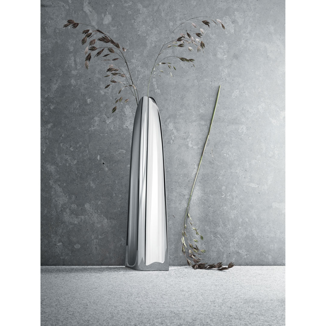 丹麥 Georg Jensen Cocktail Vase Medium 角塊 花瓶 中尺寸