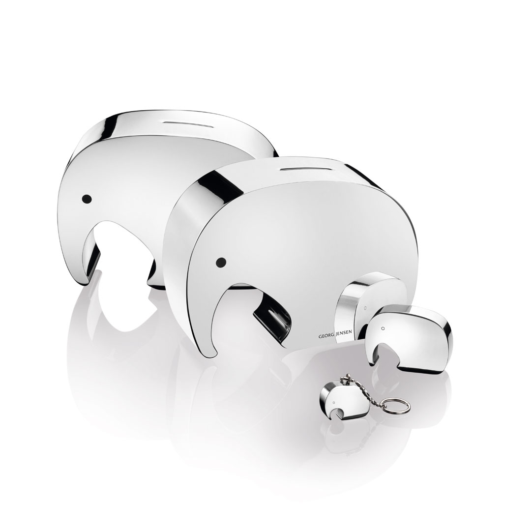 丹麥 Georg Jensen Moneyphant Money Safer 大象 存錢筒