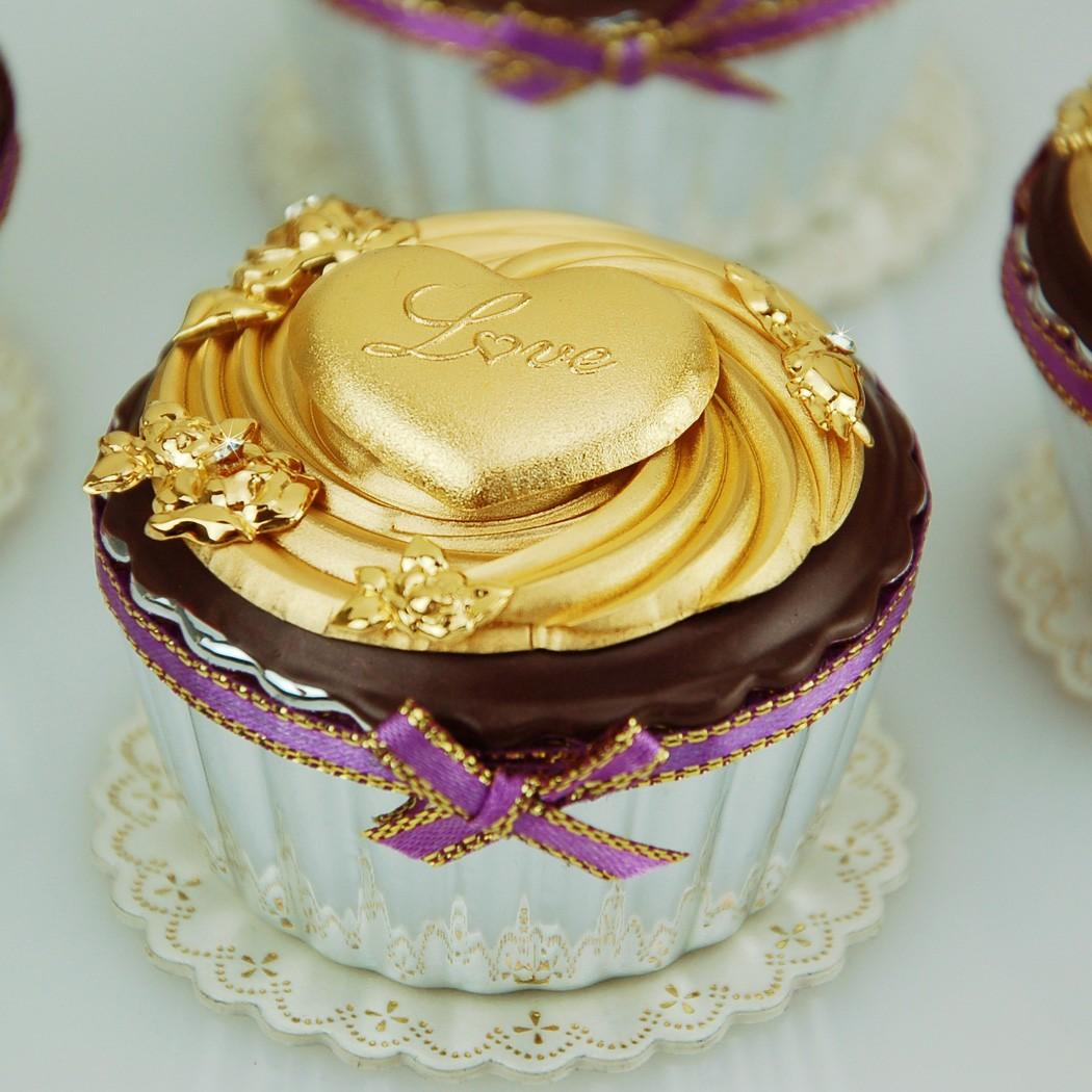 凱馨 金箔杯子蛋糕 (單顆) ~ 黃金檢驗99.9% (附保證書、提袋)