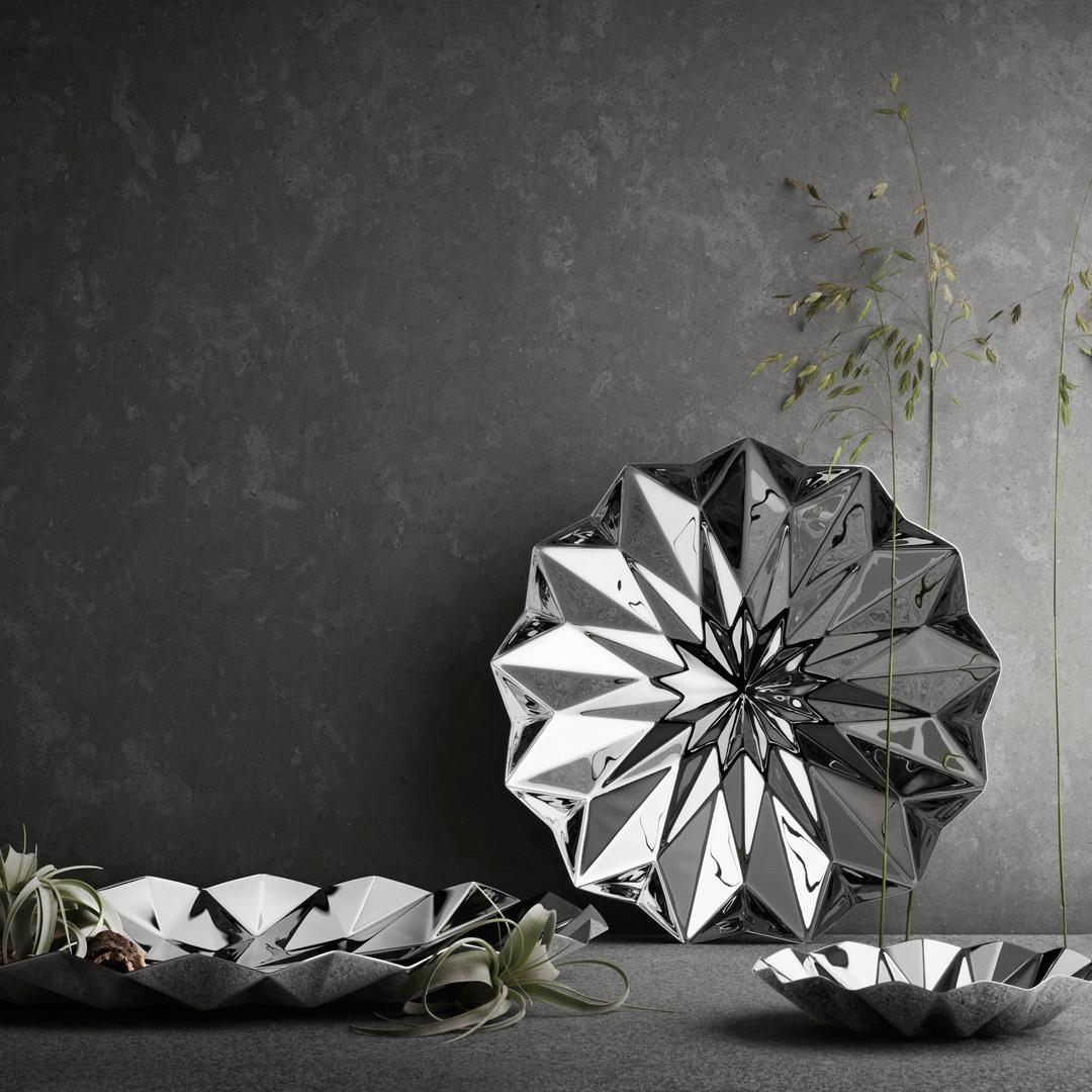丹麥 Georg Jensen Supernova Bowl in Medium 折角 不鏽鋼置物缽 中尺寸,Rebecca Uth 蕾貝卡 鄔 設計