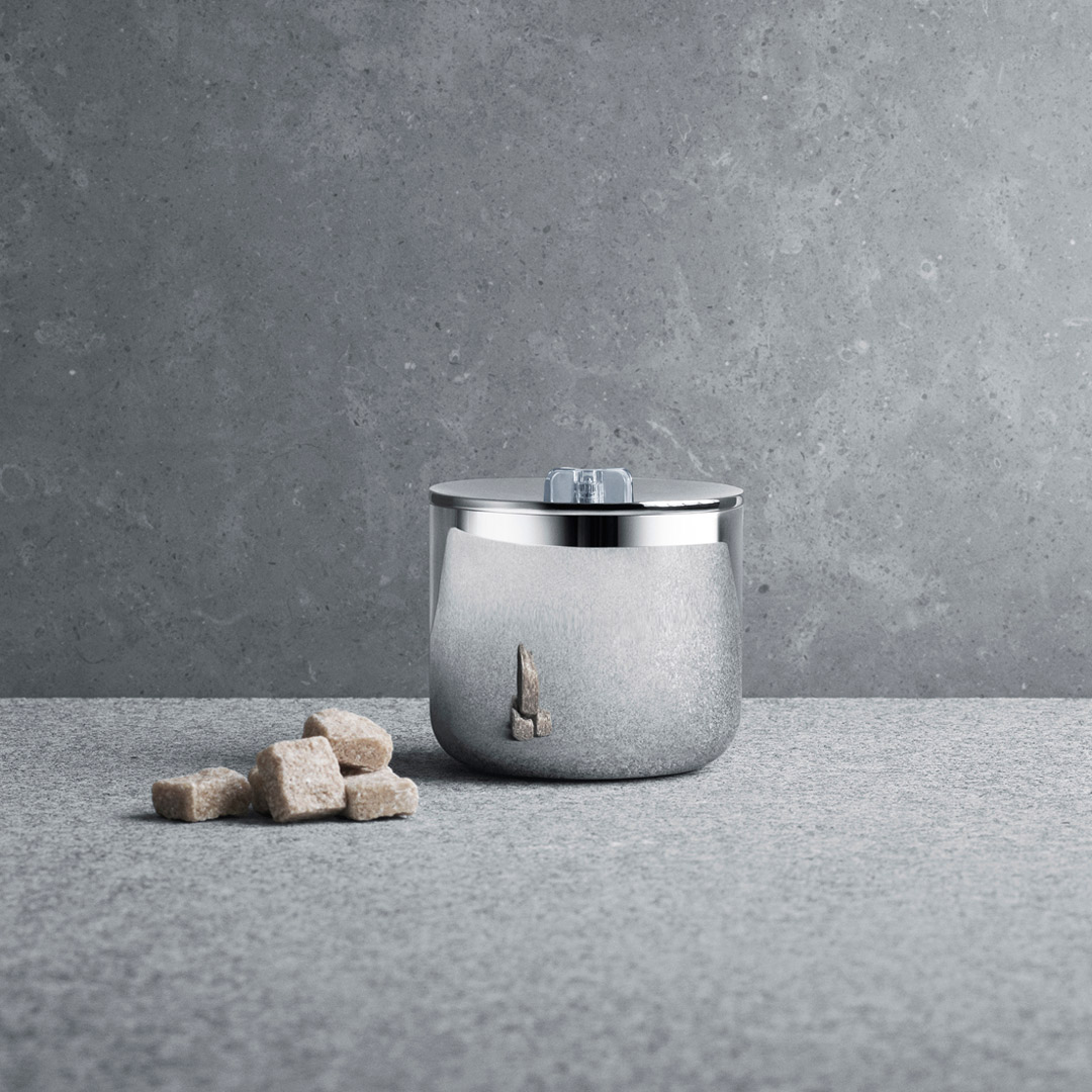 丹麥 Georg Jensen Tea with Georg Sugar Bowl with Lid 茶道系列 不鏽鋼 糖罐,Scholten & Baijings 設計