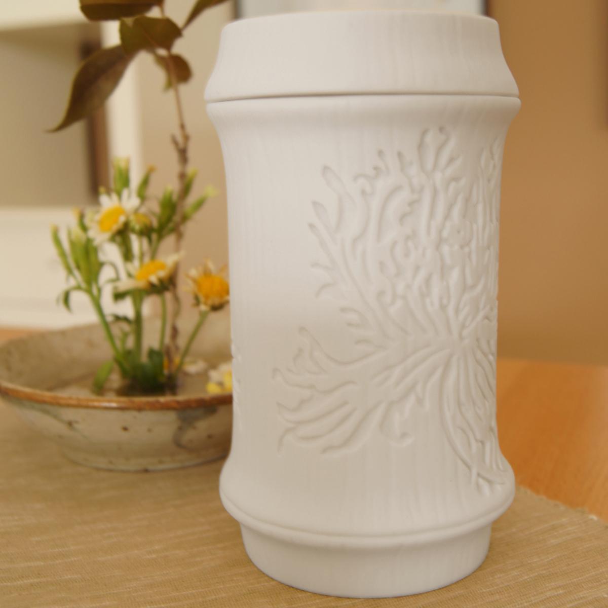 好合苑 Grand Garden 竹韻蓋杯 罌粟花 單白色 (附提袋)