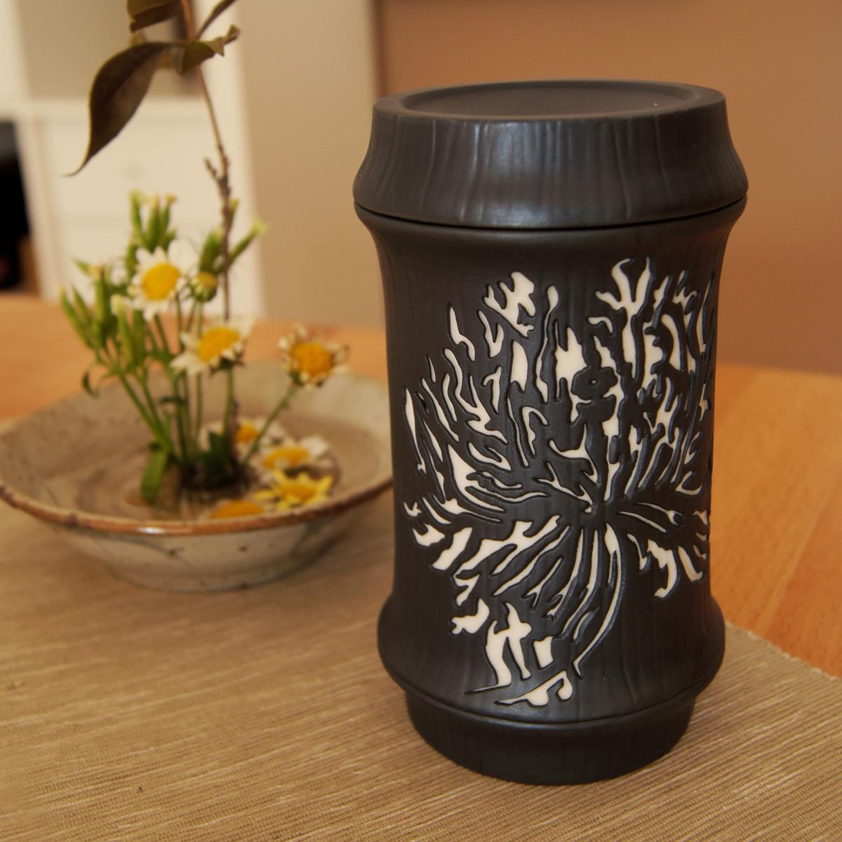 好合苑 Grand Garden 竹韻蓋杯 罌粟花 中國風雙色 (附提袋)