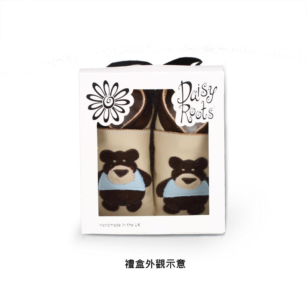 Daisy Roots 英國手工鞋S號 0~6M 新生兒 - 白色泰迪熊 TED15S (禮盒裝)
