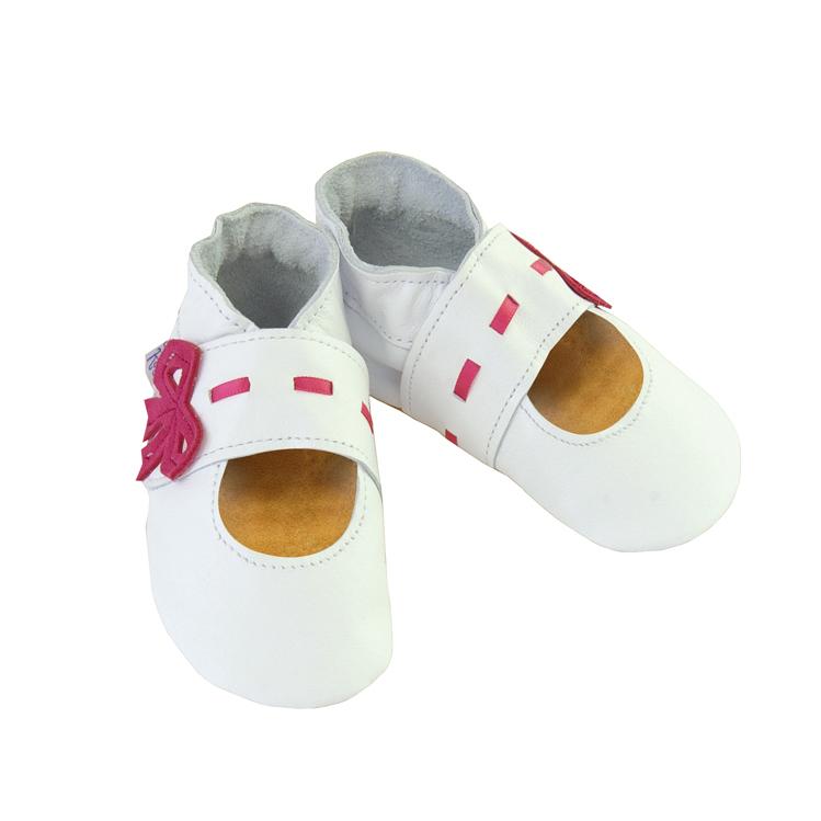 Daisy Roots 英國手工鞋S號 0~6M 新生兒 - 白色紅緞帶 MJS15S (禮盒裝)