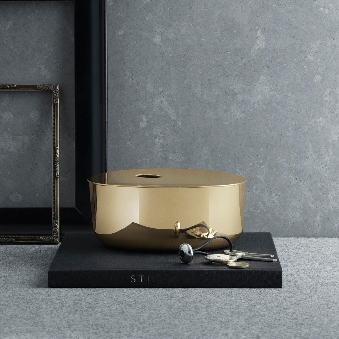 【FINAL CALL】丹麥 Georg Jensen ILSE Container Medium 伊爾思 黃銅 置物盒,Ilse Crawford 設計