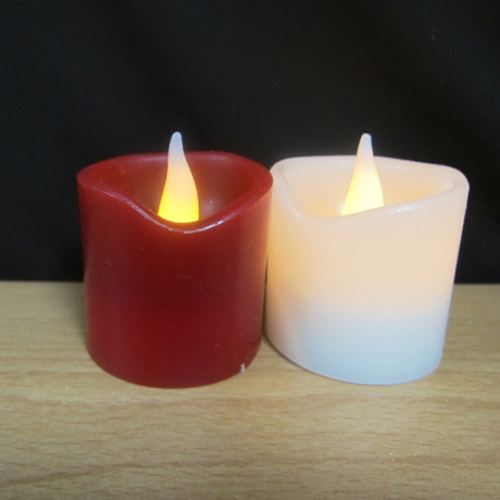 細緻波浪小蠟燭(紅色)