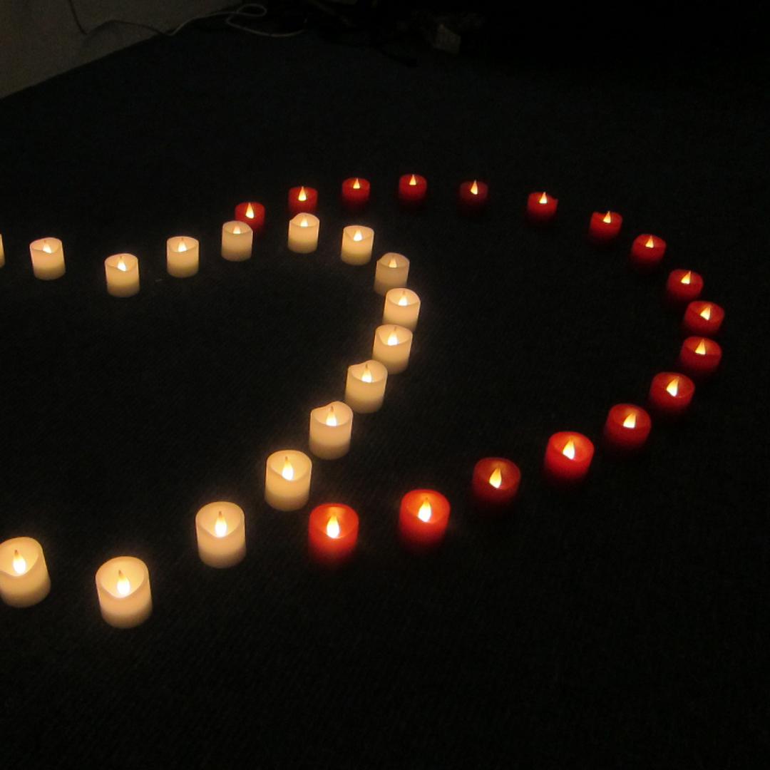 細緻波浪小蠟燭(白色)