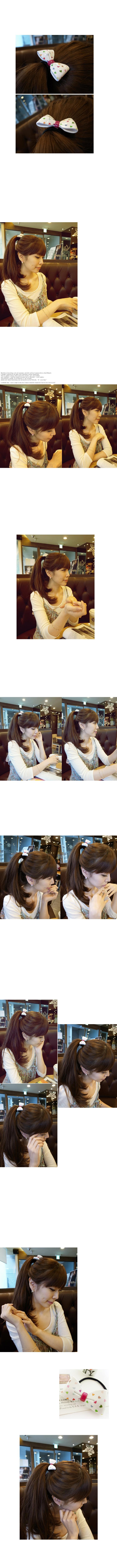 韓國 NaniWorld 繽紛愛心髮圈 #849