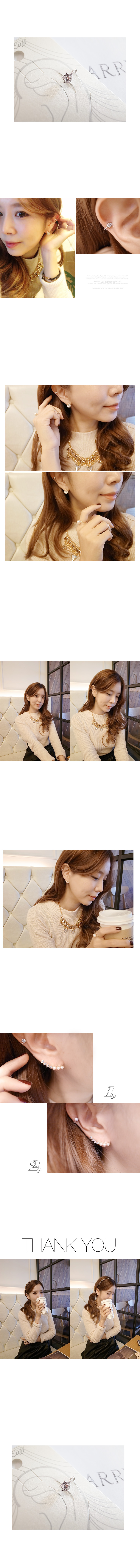 韓國 NaniWorld 鑽石氛圍耳骨夾 #2567
