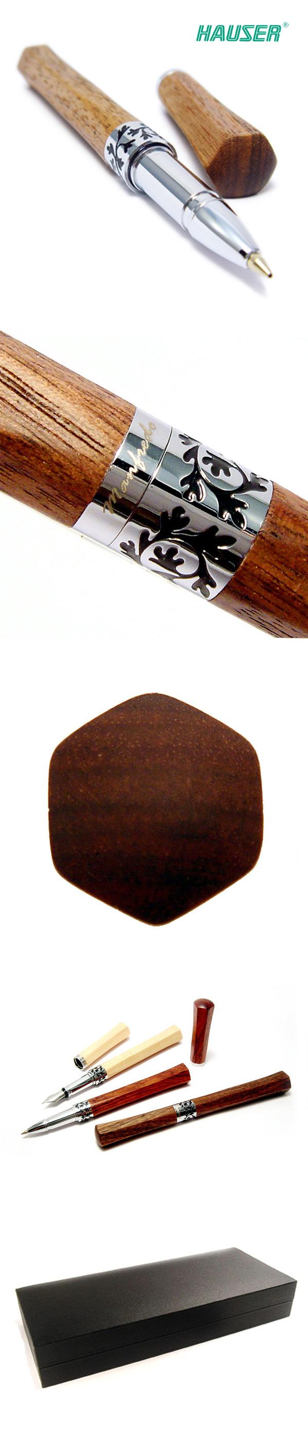 德國 HAUSER Manfredo 曼菲德 原木鋼珠筆系列 胡桃木