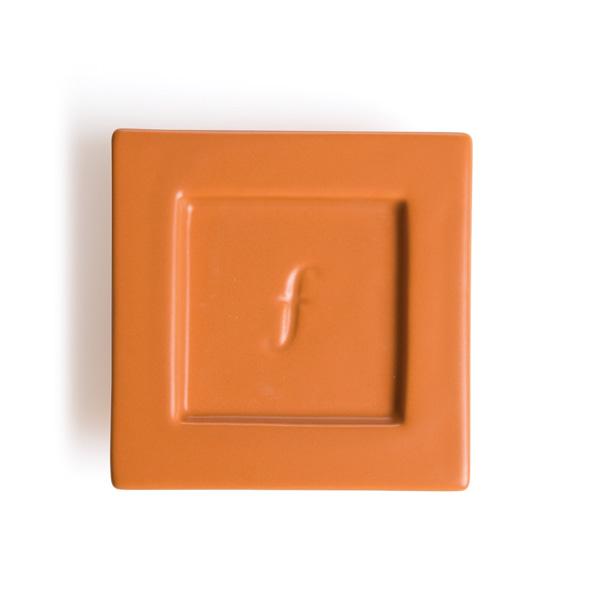 Tea Forte 2入陶瓷方型茶托(磚紅)