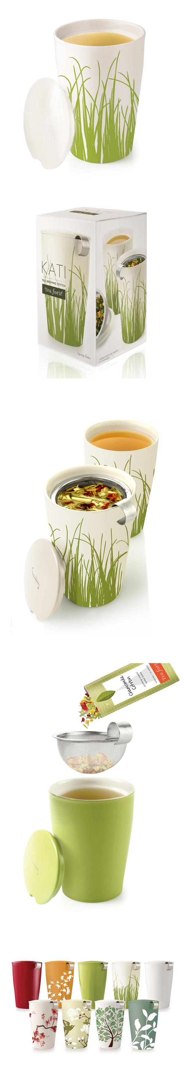 Tea Forte 卡緹茗茶杯 草紋印花