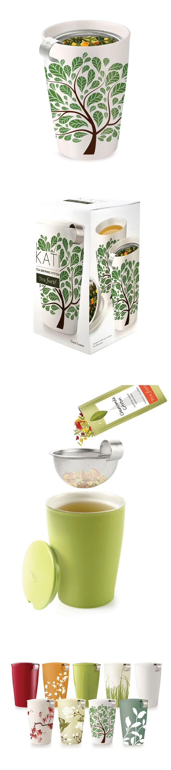 Tea Forte 卡緹茗茶杯 翠葉