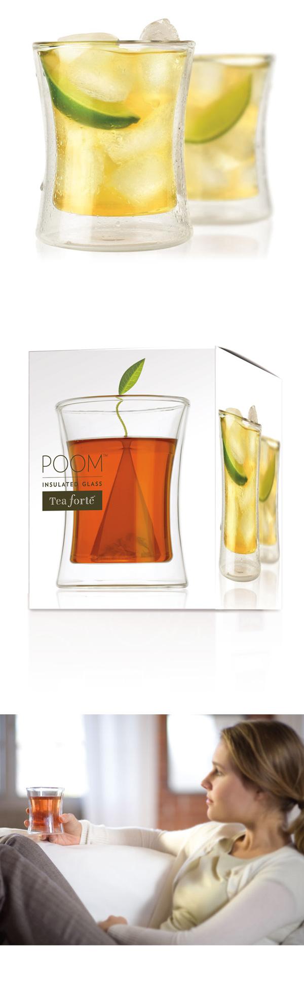 Tea Forte 雙層隔熱玻璃杯