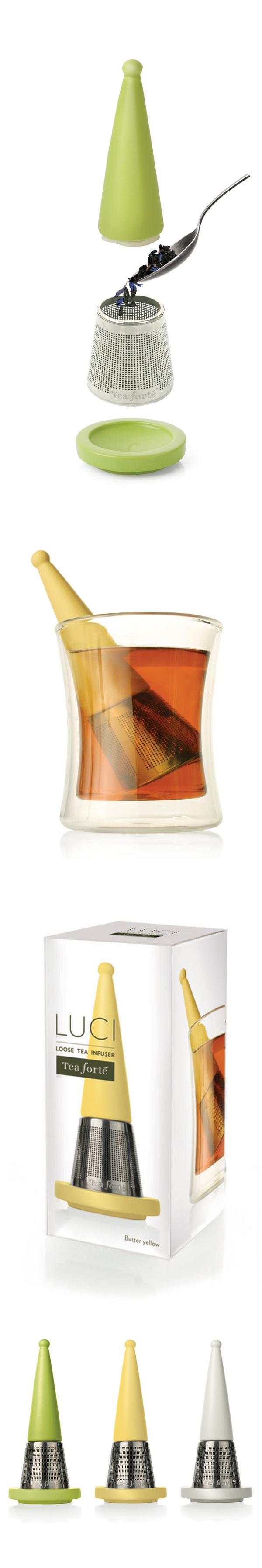 Tea Forte 露思錐形茶葉濾器(鵝黃)