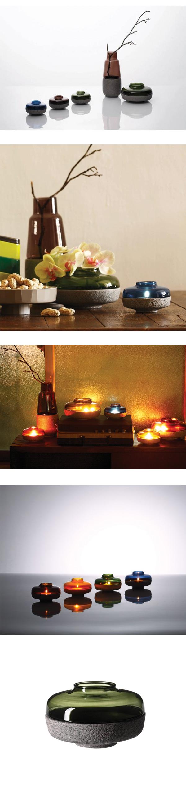 JIA Lantern & Shade 燈華系列 燭台 小尺寸,Kate Chung 設計 綠色