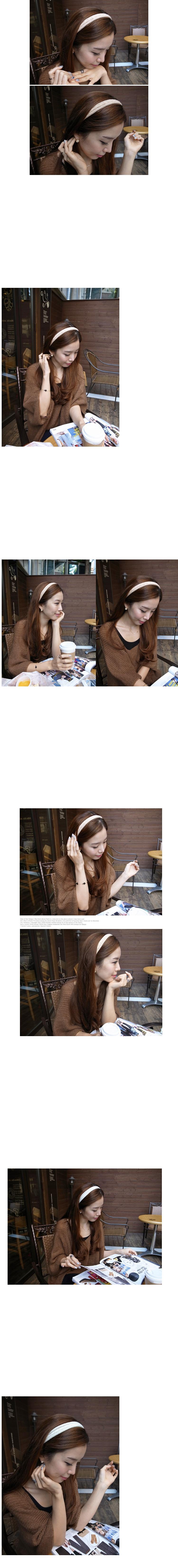 韓國 NaniWorld 對比分明白色棉質髮束 #1502