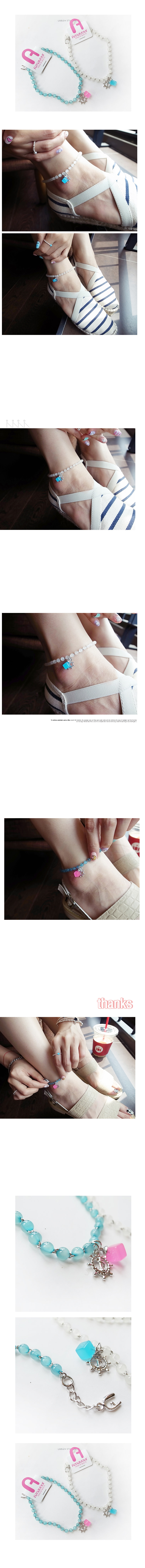 韓國 NaniWorld 彩色果凍腳飾 #3119 薄荷
