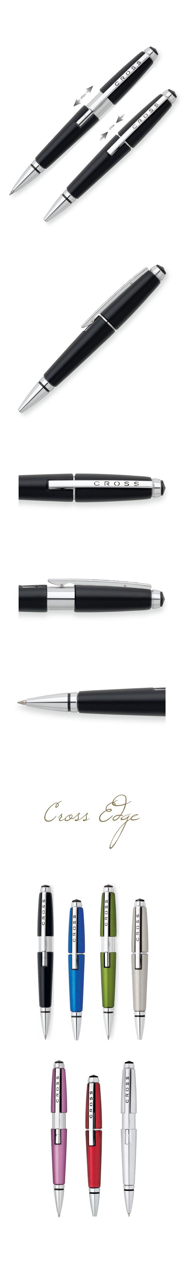 【9/26~10/2夏季精品8折優惠!】CROSS Edge 烏黑鋼珠筆 AT0555-2