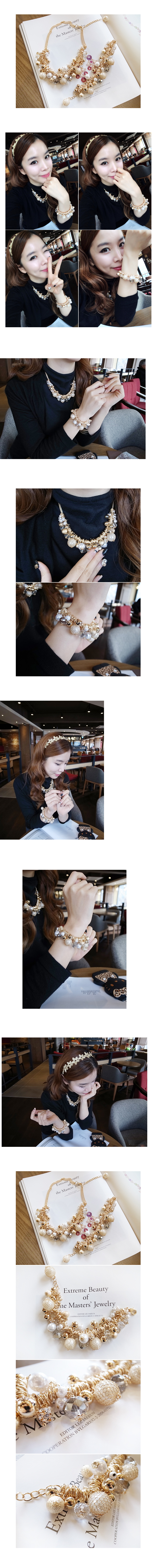 韓國 NaniWorld 宮廷風綴珠項鍊 #2723