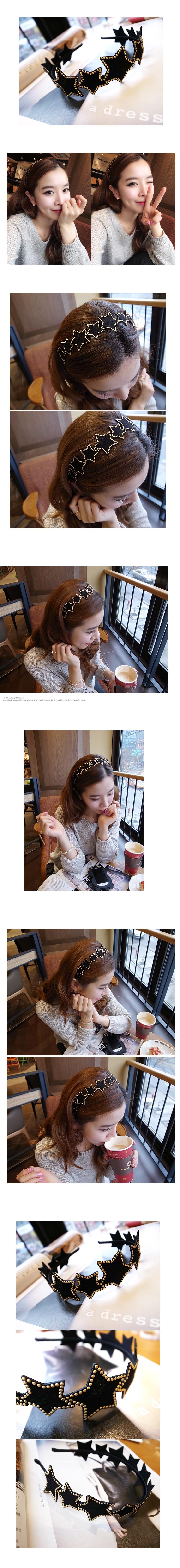 韓國 NaniWorld 可愛風滿天星髮箍 #2746