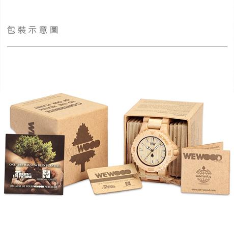 WEWOOD 義大利時尚木頭腕錶 方形錶款 Enif Beige