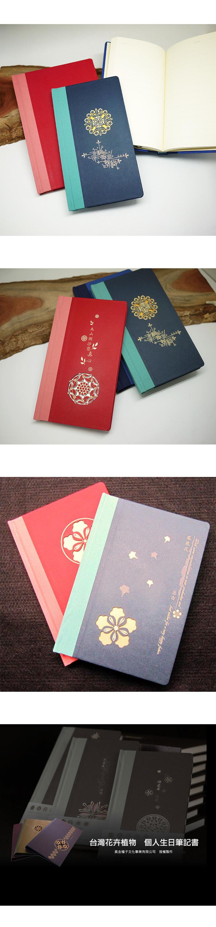 攸 UBook 可客製化 生日花禮物書 百代藍/灰 雙葉 (價格包含5字內雷雕費用)