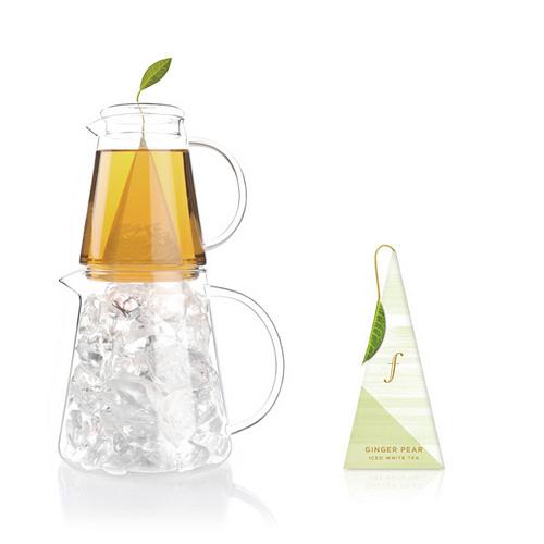 白薑梨花冰茶 Ginger Pear Iced Tea {白茶} 帶有異國風味清新而迷人的白牡丹白茶及多汁的水梨,綜合溫潤的生薑,沁心有可解渴的盛夏聖飲。