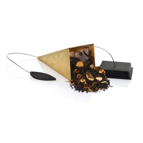 Tea Forte 23K鍍金金字塔型茶包濾茶器