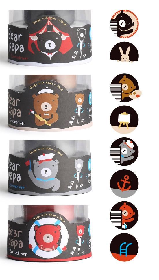 每色的包裝都附有可愛的小插畫