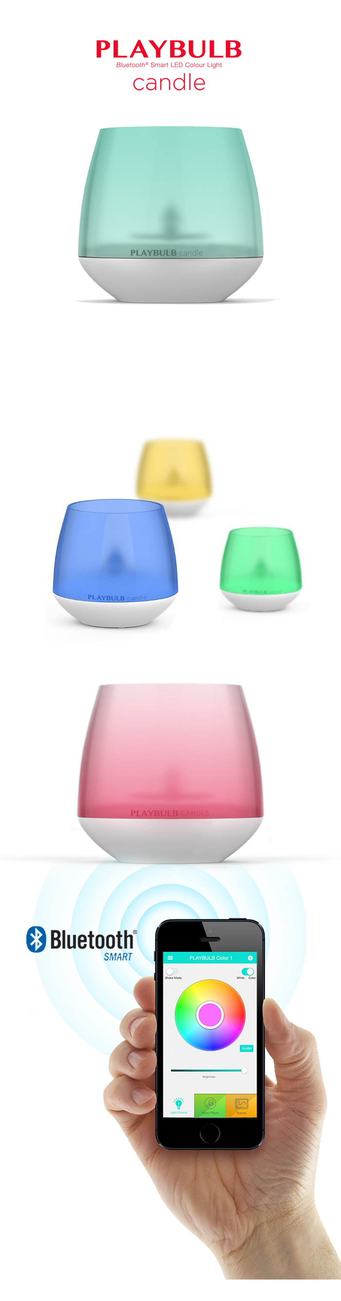 (大宗採購)MiPow PLAYBULB 魔泡 CANDLE 智慧LED蠟燭燈