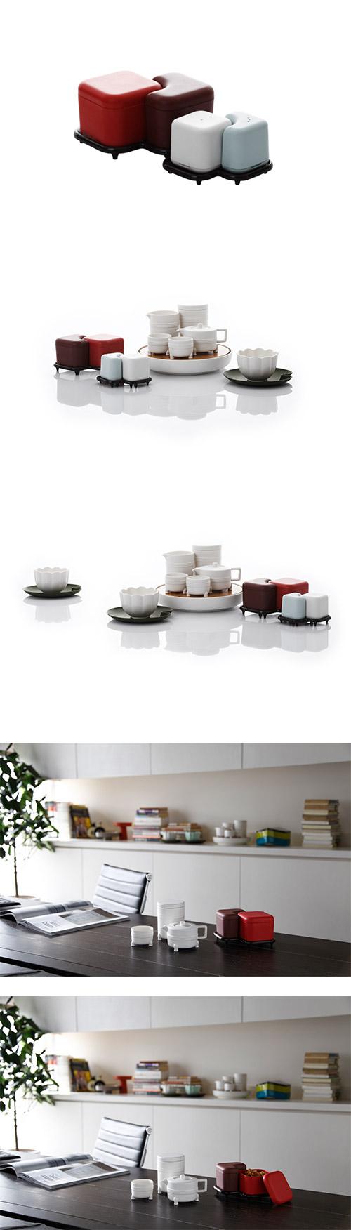 家 JIA 故宮系列 Serving Box 方勝食盒 / 置物盒 紅色組合