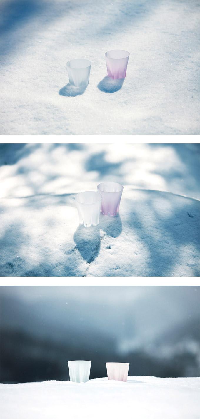 日本 Perrocaliente SAKURASAKU 雪櫻杯 雙入同款不同色 威士忌杯 原色&櫻花粉