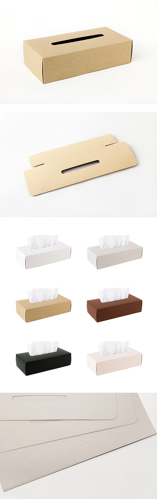 Perrocaliente TISSUE BOX CASE 面紙盒 2入 駝色