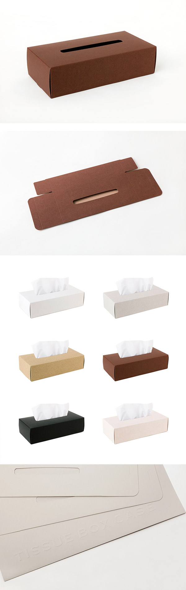 Perrocaliente TISSUE BOX CASE 面紙盒 2入 棕色