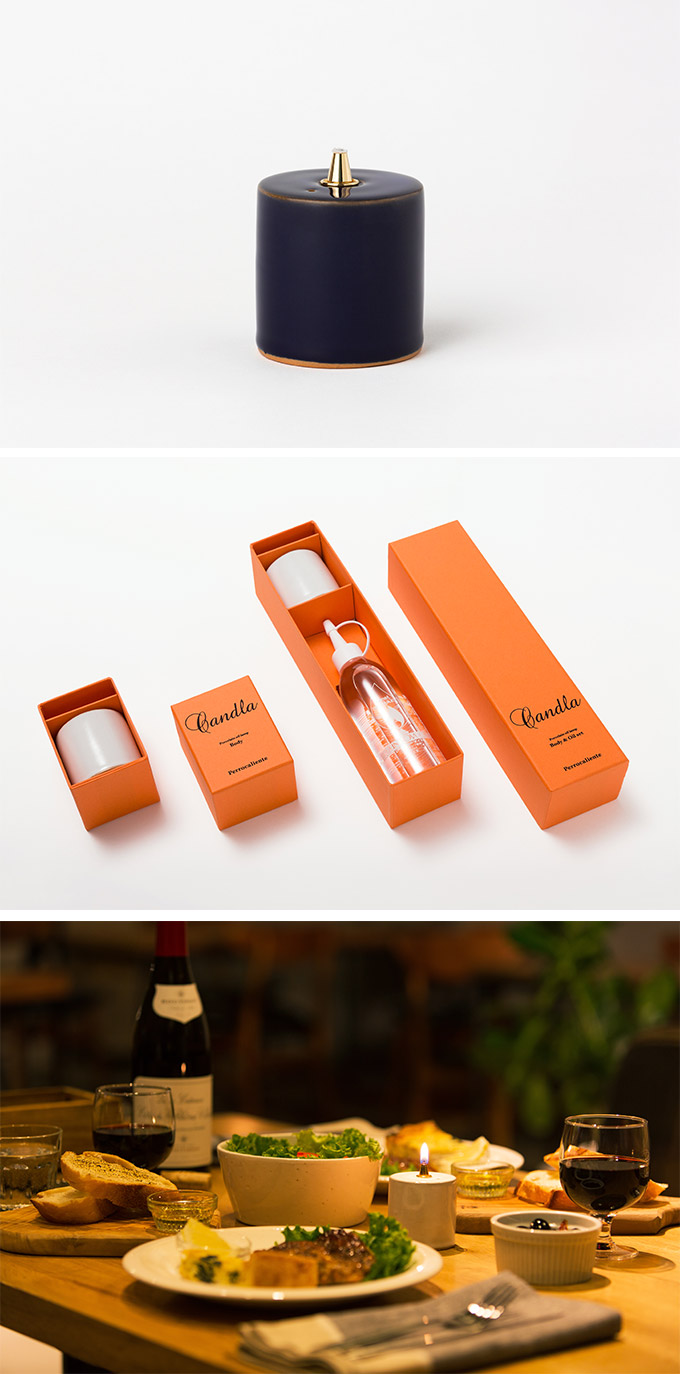Perrocaliente CANDLA 蠟燭形蠟燭 日本琉璃色 (附彩虹燈油)