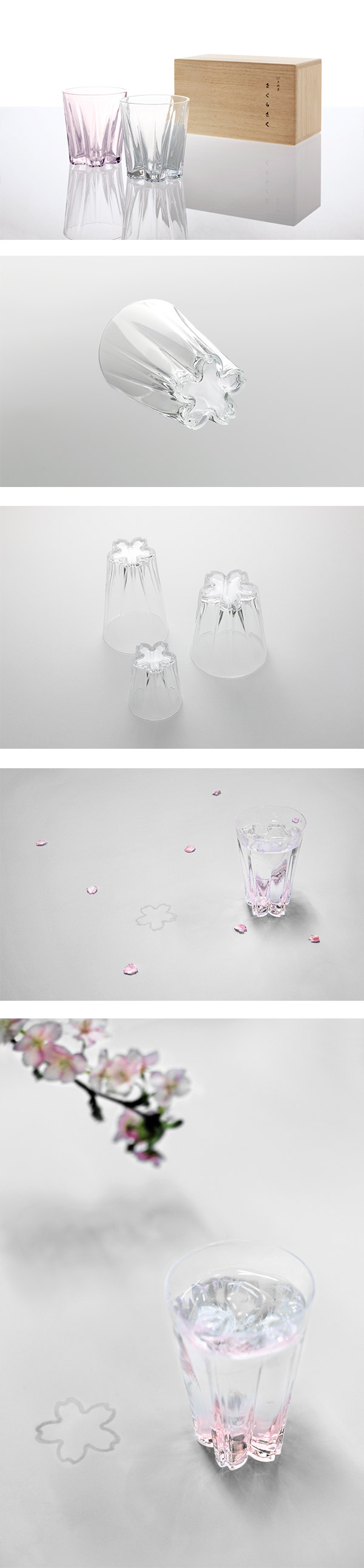 日本 Perrocaliente SAKURASAKU 櫻花杯 雙入同款不同色 威士忌杯 透明&櫻花粉