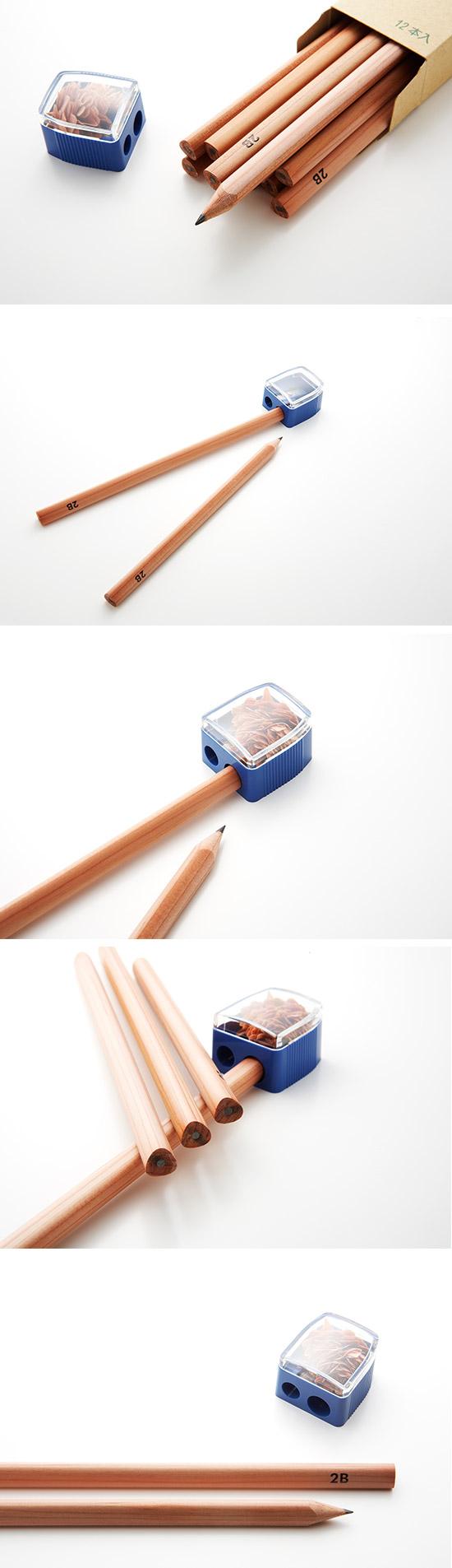 北星大人鉛筆 大三角原木鉛筆 B