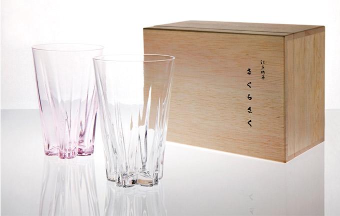 日本 Perrocaliente SAKURASAKU 櫻花杯 雙入同款不同色 一般 透明&櫻花粉