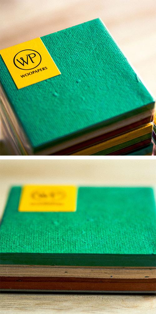 WOOPAPERS 種子便條紙磚 混色本-Tropical綠麻紅
