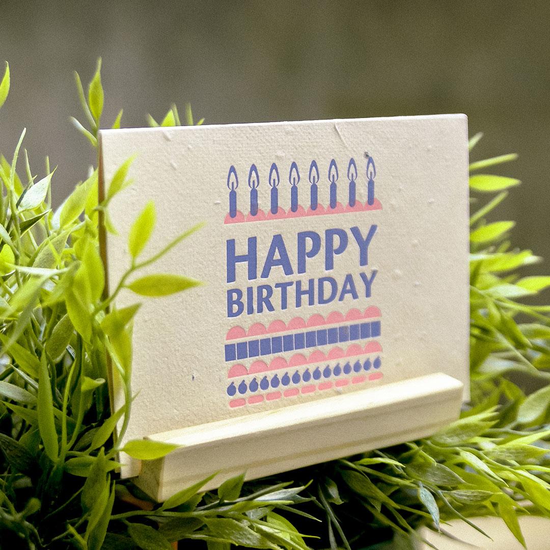 WOOPAPERS 種子紙生日卡 Happy Birthday Cake