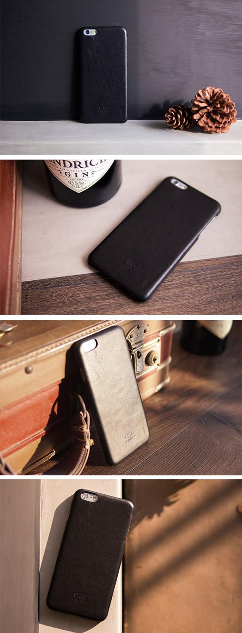 【可雷雕】alto iPhone 6 Plus / 6S Plus 真皮手機殼背蓋 Original (Black)