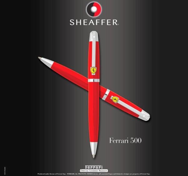 【6/13~6/19夏季禮9折優惠】SHEAFFER Ferrari 法拉利 500 原子筆 (附原廠提袋)