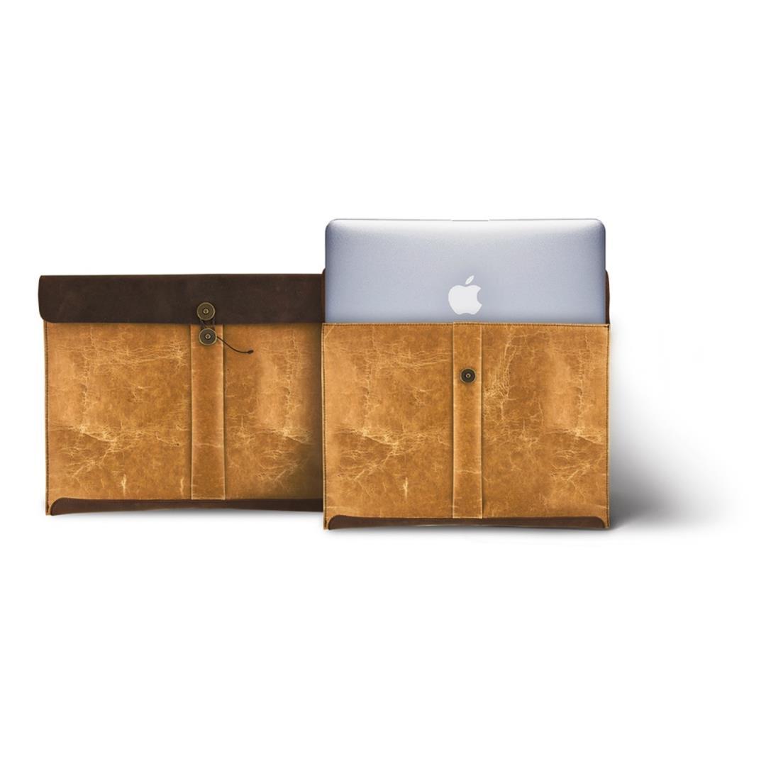ADOLE 蠟紋布仿古皮革 經典MACBOOK AIR包
