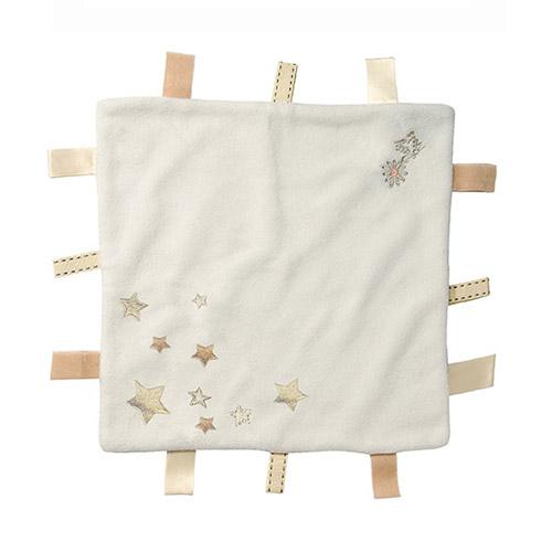 Daisy Roots 彌月禮盒 英國手工鞋S號+方巾 - 藍底小花/米色方巾