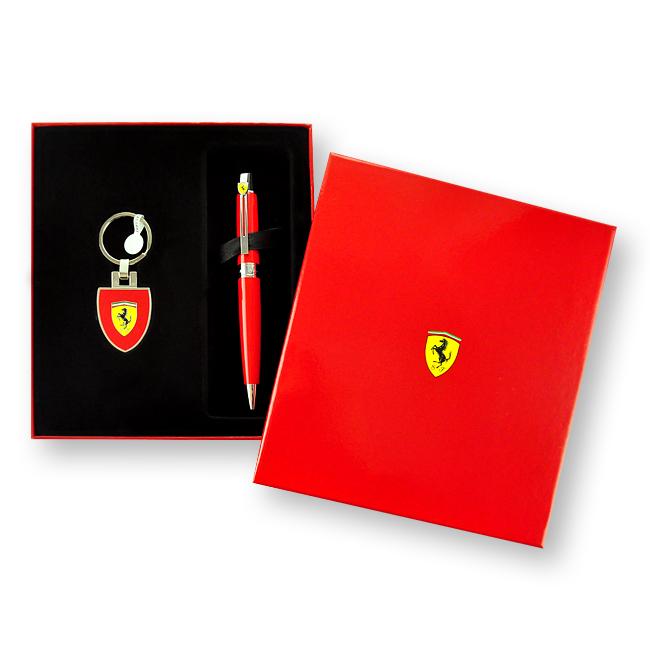 【5/9~5/15夏季禮9折優惠】SHEAFFER Ferrari 法拉利 300 原子筆+鎖圈禮盒組 (附原廠提袋)