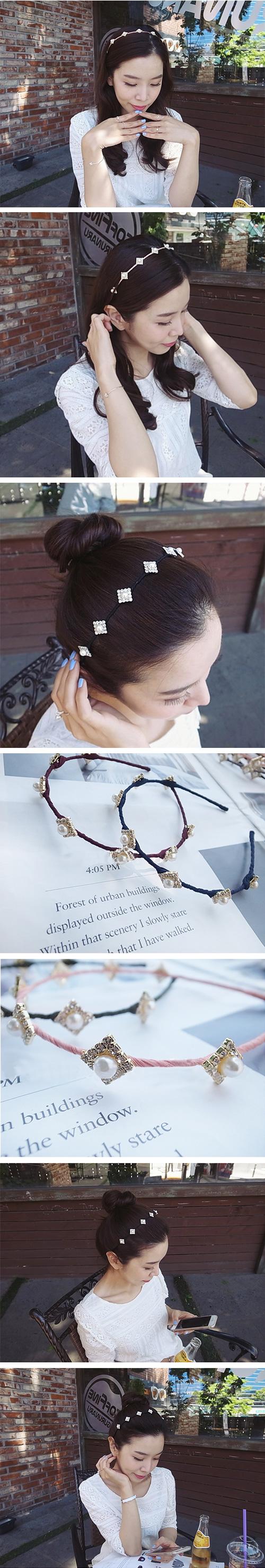 韓國 NaniWorld 布蘭克玉髮箍 #3615 米色